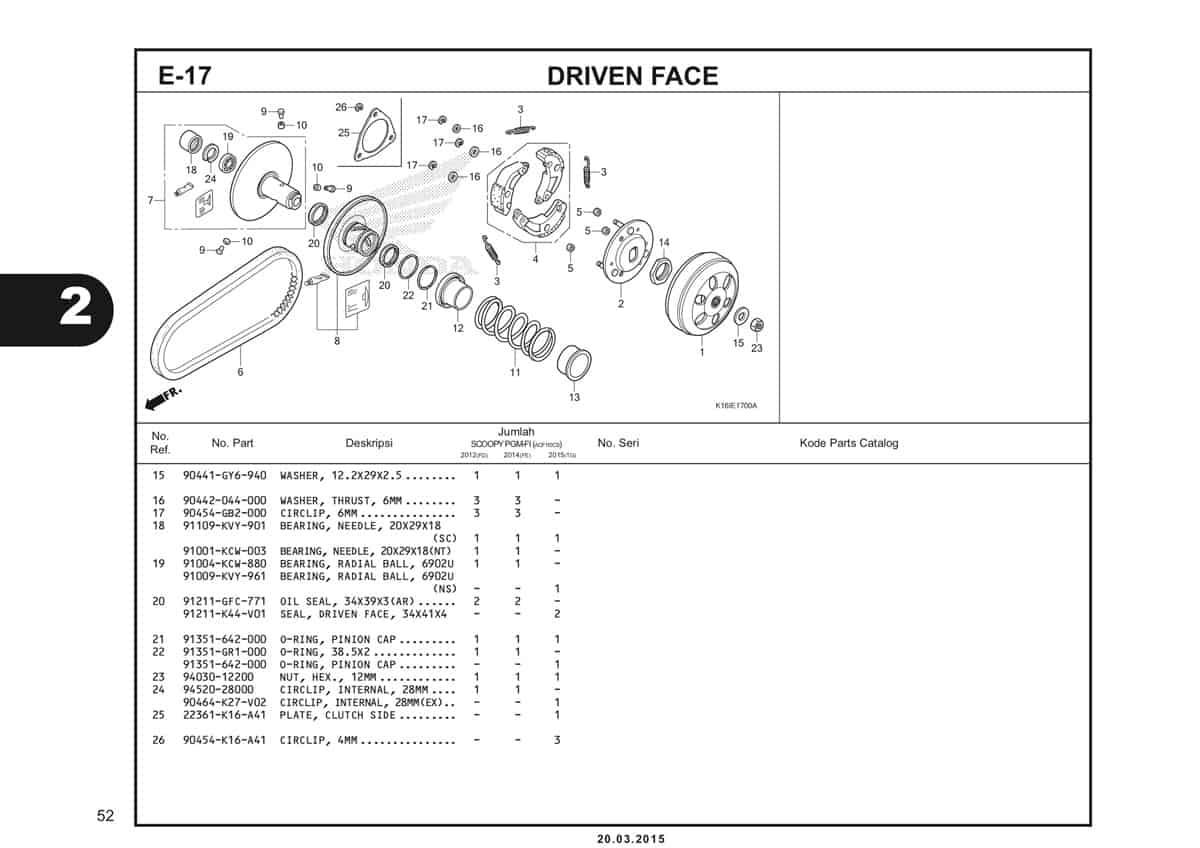 E-17 Driven Case Katalog Scoopy eSP K16