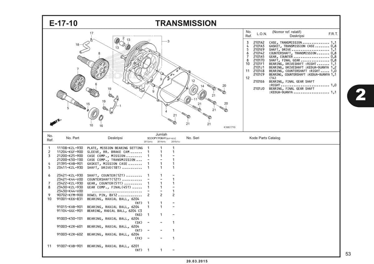 E-17-10 Transmission Katalog Scoopy eSP K16