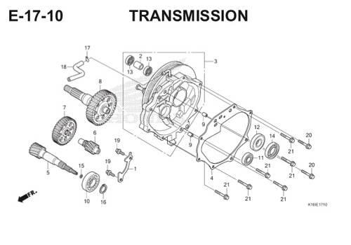 E-17-10 Transmission Scoopy eSP K16