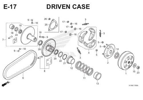 E-17 Driven Case Scoopy eSP K16