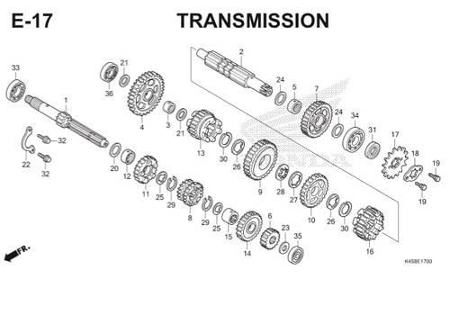 E-17 Transmission CBR 150R K45A