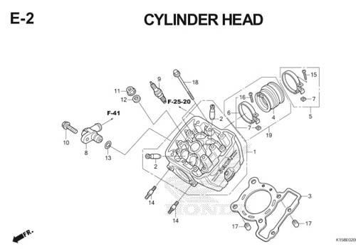 E-2 Cylinder Head CB150R StreetFire K15