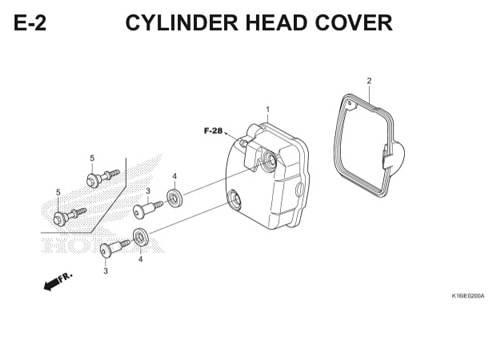 E2 – Cylinder Head Cover – Katalog Honda Scoopy eSP K16