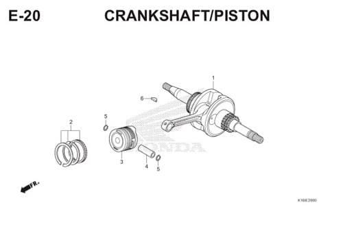 E-20 Crankshaft/Piston Scoopy eSP K16