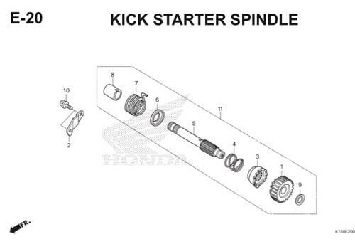 E-20 Kick Starter Spindle CB150R StreetFire K15
