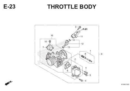 E-23 Throttle Body CB150R StreetFire K15