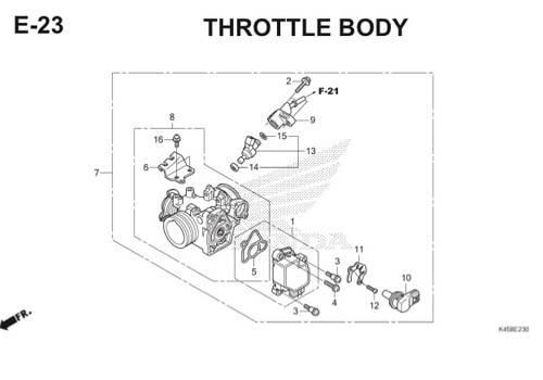 E-23 Throttle Body CBR 150R K45A