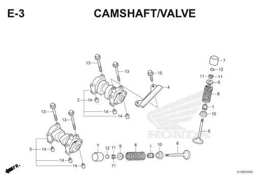 E-3 Camshaft/Valve CB150R StreetFire K15