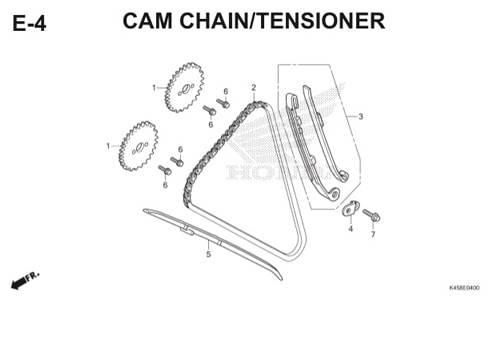 E-4 Cam Chain/Tensioner CBR 150R K45A