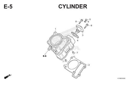 E-5 Cylinder CB150R StreetFire K15