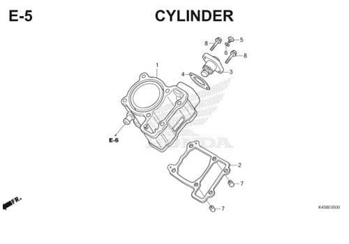E-5 Cylinder CBR 150R K45A