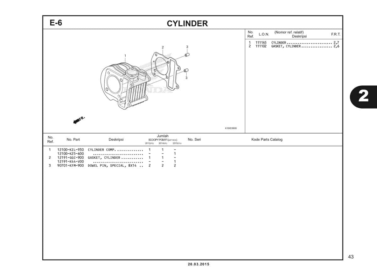E-6 Cylinder Katalog Scoopy eSP K16