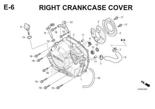 E-6 Right Crankcase Cover CBR 150R K45A