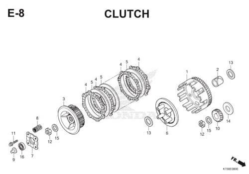 E-8 Clutch CB150R StreetFire K15