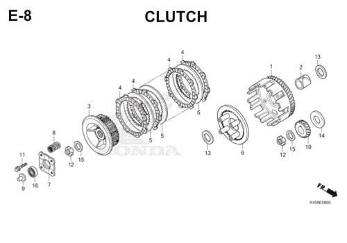 E-8 Clutch CBR 150R K45A