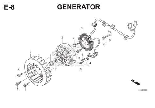 E-8 Generator Scoopy eSP K16
