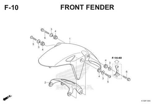 F-10 Front Fender CB150R StreetFire K15
