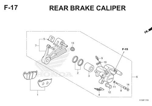 F-17 Rear Brake Caliper CB150R StreetFire K15
