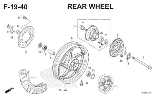 F-19-40 Rear Wheel CBR 150R K45A