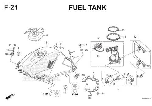 F-21 Fuel Tank CB150R StreetFire K15