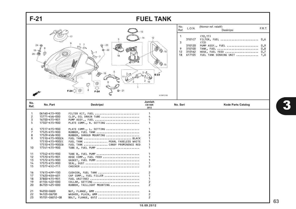 F-21 Fuel Tank Katalog CB150R StreetFire K15