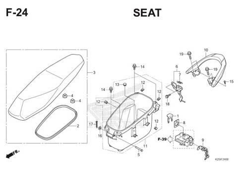 F 24 Seat BeAT eSP K25