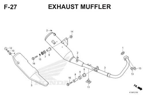 F-27 Exhaust Muffler CB150R StreetFire K15