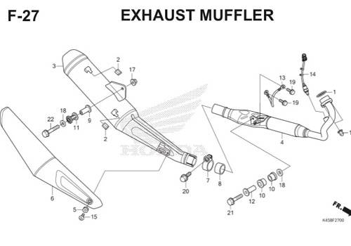 F27 – Exhaust Muffler – Katalog Honda CBR 150R K45A