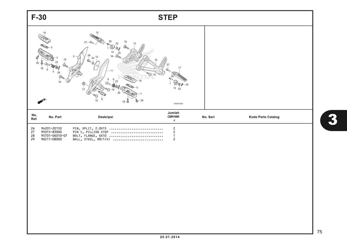F-30 Step Katalog CBR 150R K45A