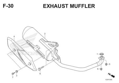 F 30 Exhaust Muffler BeAT eSP K25