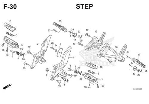 F30 – Step – Katalog Honda CBR 150R K45A