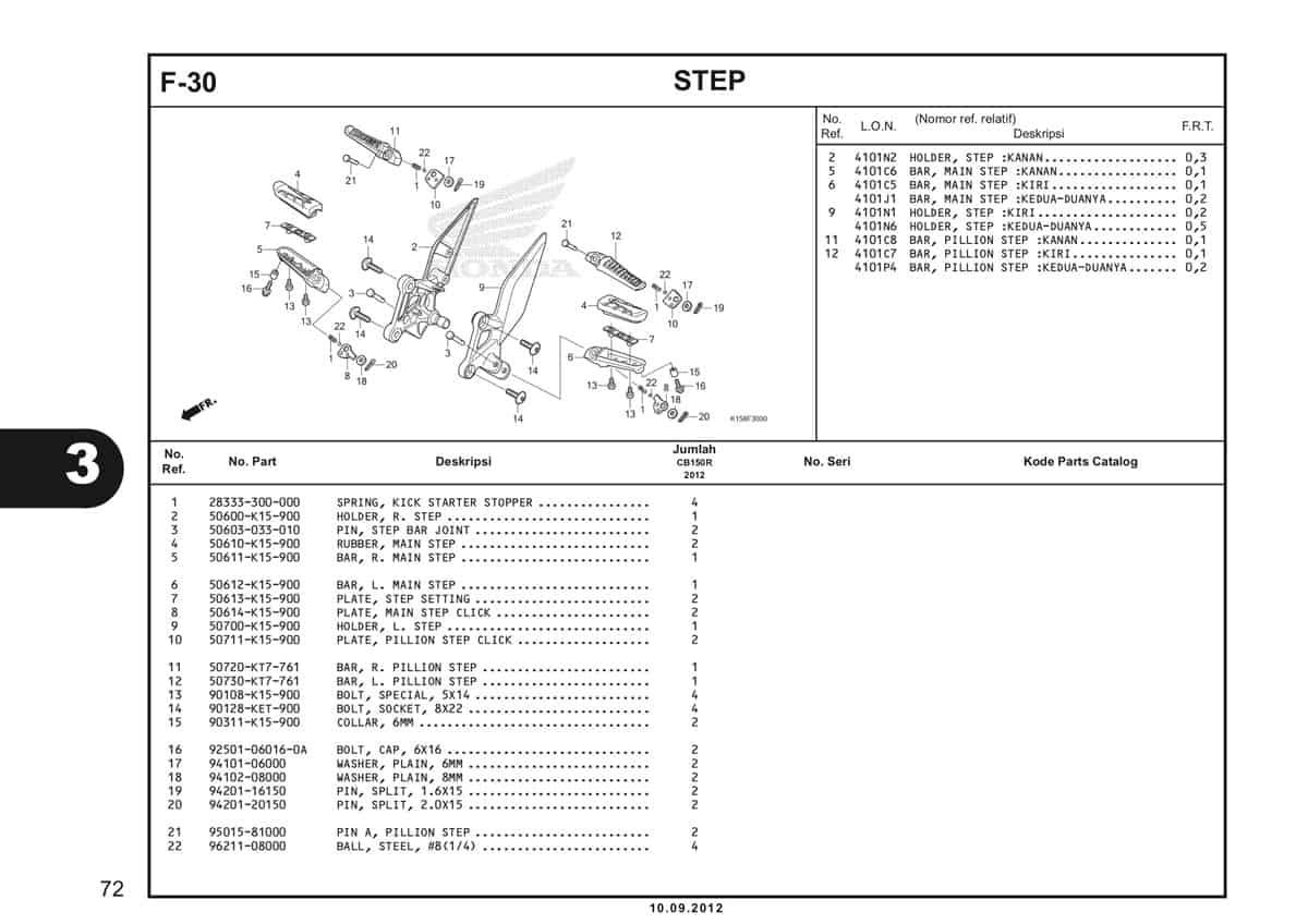 F-30 Step Katalog CB150R StreetFire K15