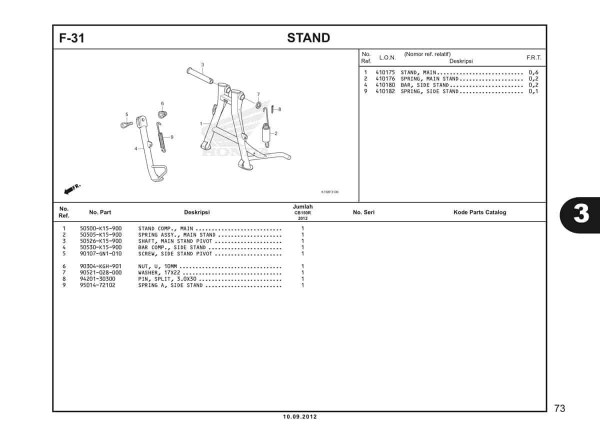F-31 Stand Katalog CB150R StreetFire K15