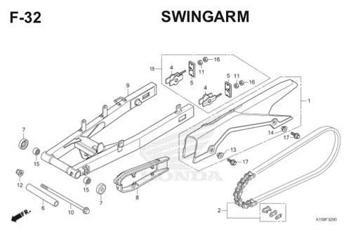 F-32 Swingarm CB150R StreetFire K15