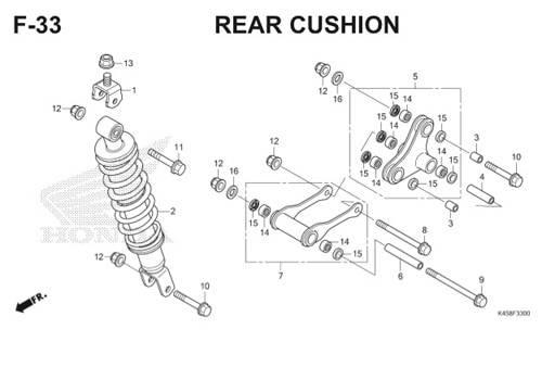 F-33 Rear Cushion CBR 150R K45A