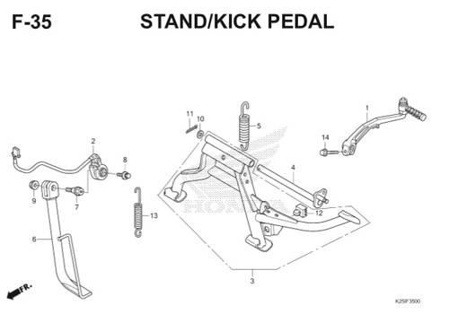 F 35 Stand/Kick Pedal BeAT eSP K25
