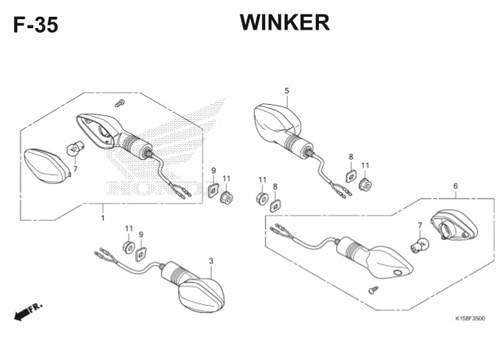 F35 – Winker – Katalog Honda New CB150R StreetFire K15