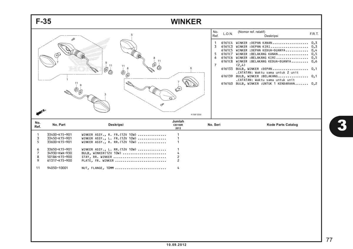 F-35 Winker Katalog CB150R StreetFire K15