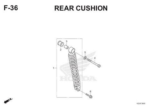 F 36 Rear Cushion BeAT eSP K25