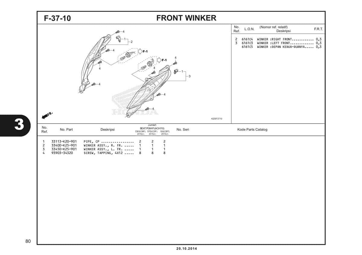 F 37 10 Front Winker Katalog BeAT eSP K25