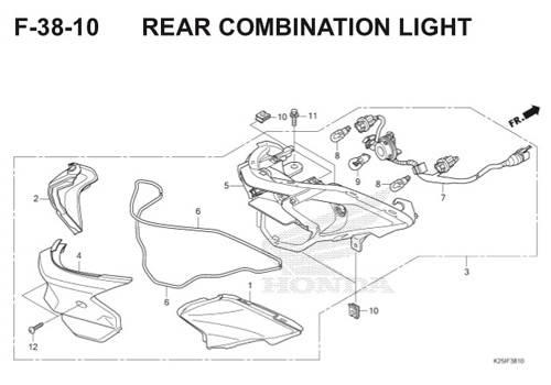 F 38 10 Rear Combination Light BeAT eSP K25