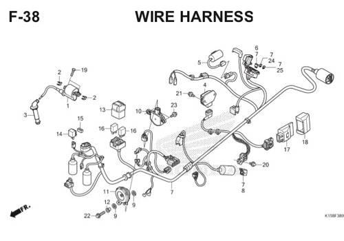 F-38 Wire Harness CB150R StreetFire K15
