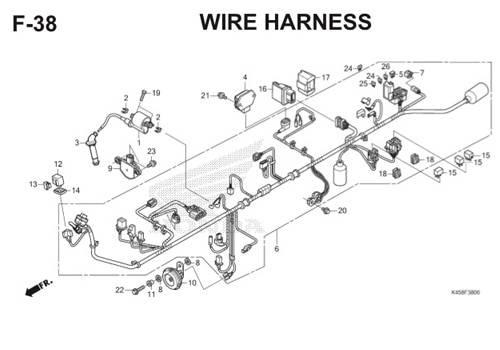 F-38 Wire Harness CBR 150R K45A
