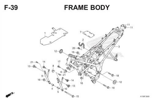 F-39 Frame Body CB150R StreetFire K15