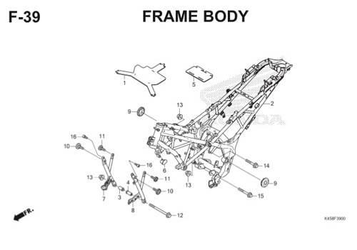 F39 – Frame Body – Katalog Honda CBR 150R K45A
