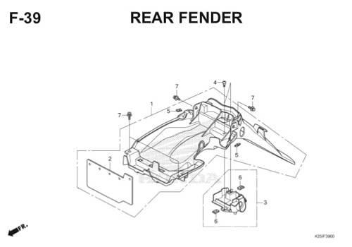 F39 – Rear Fender – Katalog Honda BeAT eSP K25