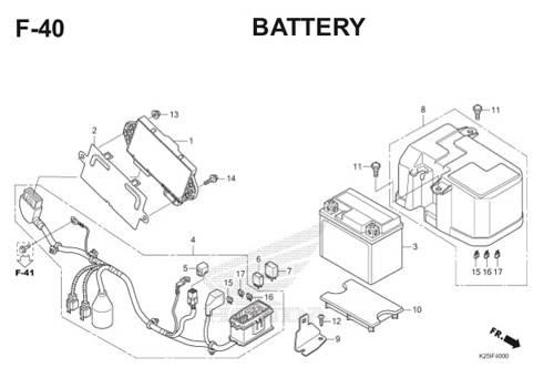 F 40 Battery BeAT eSP K25