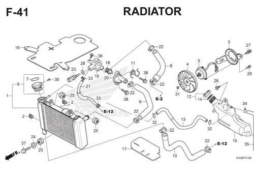 F41 – Radiator – Katalog Honda CBR 150R K45A