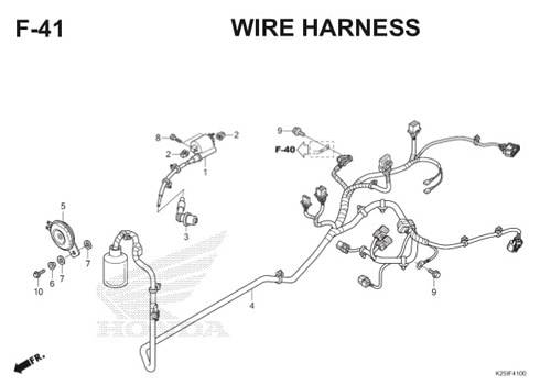 F 41 Wire Harness BeAT eSP K25