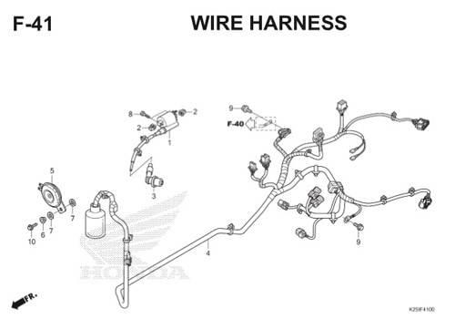 F 41 Wire Harness BeAT eSP K25